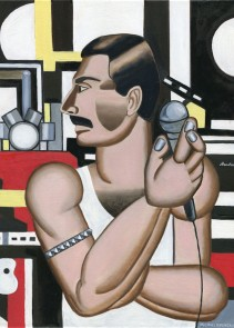 Freddie Mercury (after Leger)